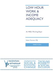 Low Hour Work & Income Adequacy