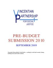 Pre-Budget Submission 2010
