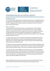 Submission on European Pillar of Social Rights